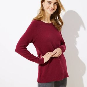 New LOFT Women's Side Zip Tunic Sweater